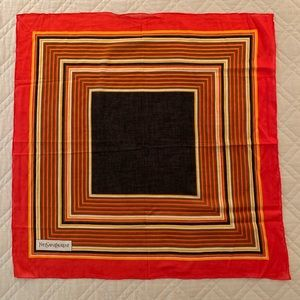 Yves St. Laurent cotton scarf
